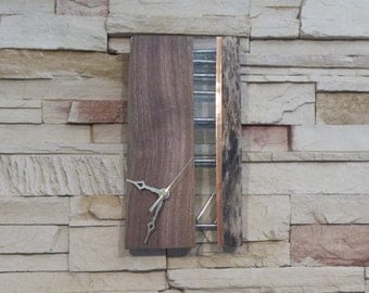 Natural Wood Clock with Glass