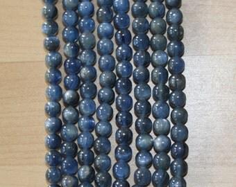 AA Brazilian Kyanite 6mm Round Beads