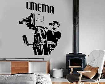 Wall Vinyl Decal Cinema Movie Acter Producer Film Cool Amazing Decor 1354dz