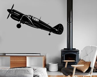Wall Vinyl Decal Airplane Retro Jet Air Force Military Mural Decor 1678dz