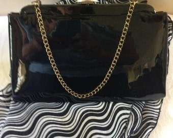 New Sale Price 12.00 was Originally 15.00 Ladies Patent Leather Evening Purse.