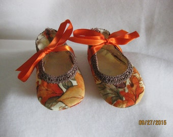 Thanksgiving/Autumn Baby Shoes