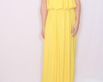 Yellow dress Summer Maxi dress Bridesmaid dress