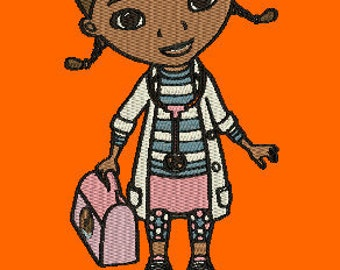 DOC MCSTUFFINS embroidery designs with or without logo included