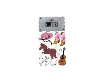 Jolee's Boutique Dimensional Stickers - Cowgirl