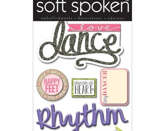 Dance Dimensional Stickers by Soft Spoken, Me & My Big Ideas Stickers