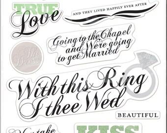 Me & My Big Ideas Wedding Glitter Stickers Value Pack
