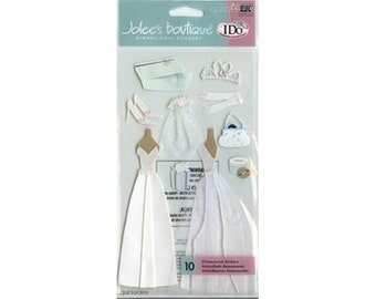 Jolee's Boutique Dimensional Stickers - Wedding Gown