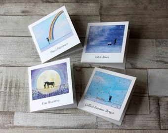 Set of 4 Assorted Polaroid inspired 'Capture a Dream' blank note cards.