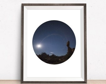 Stars Print, Stars Photography, Circle Print, Sky Photo, Instant Download Printable Art, Geometric Print, Circle Art, Photo Art