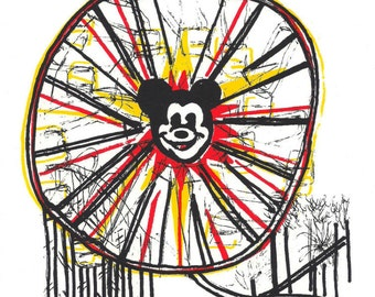 Disney's California adventure park screen print