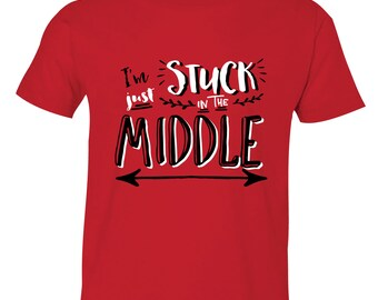 Middle Brother Shirt, Middle Brothers Hipster shirt - Brothers sibling shirt, Stuck in the Middle Brother T-Shirt, Sibling Shirts, HipSib