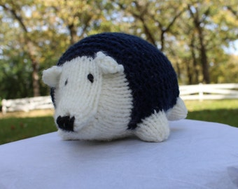 Knit Stuffed Hedgehog