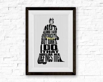 BOGO FREE! Batman Cross Stitch Pattern, Сomics, TV Show, Quote Cross Stitch, Needlecraft Embroidery Needlework Pdf Instant Download  #005-3