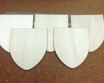 SET 5 PCs. poplar wood Shield 3 mm