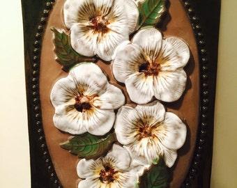 Vintage JIE Gantofta Flower Ceramic Wall Plate No 857
