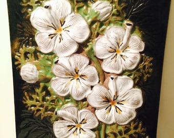 Vintage JIE Gantofta Flower Ceramic Wall Plate No 858 Designed by Aimo Nietosvuori
