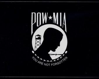 POW MIA - Vinyl Decal Sticker Heavy Duty Made in USA