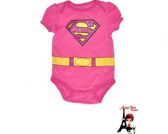 Super Girl Top - Super Man Justice League DC Comics