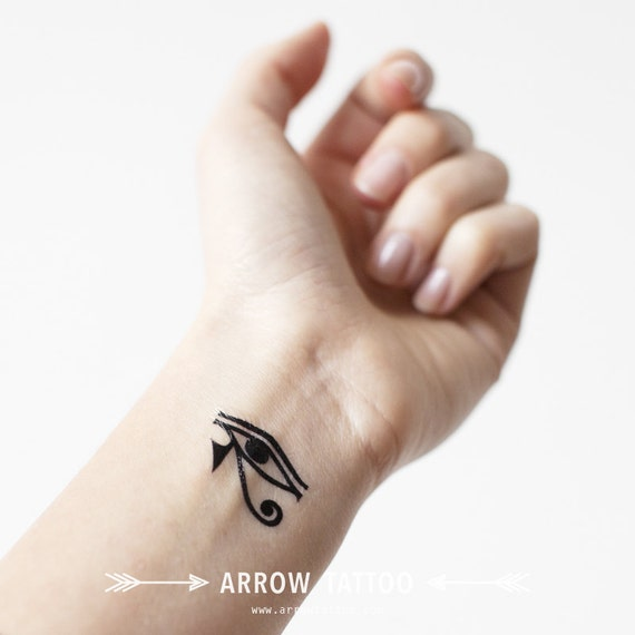 Set of 2 Eye of Horus Egyptian temporary Tattoo wrist ankle