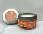 Pumpkin Pie Scented Soy Candle - Fall Soy Candle - Seasonal Soy Candle - Holiday soy candle - Pumpkin Spice Candle - food soy candle