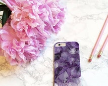 Purple Crystal amethyst amazing Design hard back case cover for iPhone 6s Plus, 6 6s, 5 5s 5c, 4s Samsung Galaxy S7 S6 S5 S4 Note 5 One M9