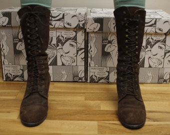 Real Vintage Women's Boots Brown Real Leather