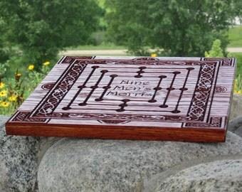 Nine Men's Morris, Board Game, Wooden Board Game, 9 Men's Morris