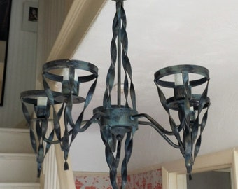 Ceiling lighting wrought iron style chandelier, rustic lights, cast iron style lighting, upcycled light, pendant light fixture, chandelier