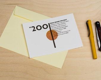 2001 a Space Odyssey | Postcard, Letterpress card