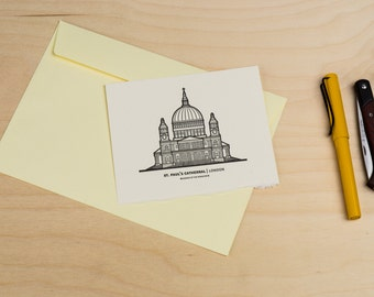 St Paul's Cathedral | Postcard, Letterpress card