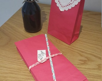 Paper Favour Bags or Candy Bags  Pk20 - Pink