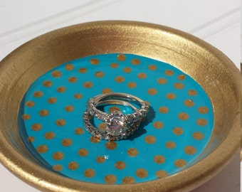 Polka Dot Ring Dish - Made to Order in the Color of Your Choice!