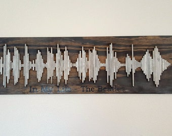 Beatles Soundwave Art - Wood Wall Art - Soundwave Art - Anniversary Gift Idea - Unique Gift Idea