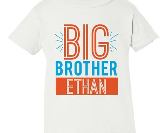 Big Brother Shirt, Personalized Big Brother Shirts, Big Brother Little Brother, Big Brother Little Sister