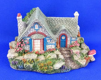 Seaside Cottage Sculpture - Signed by Thomas Kinked