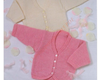 Baby And Childrens Bolero Knitting Pattern 0 Months To 6 Years  DK -   PDF Download