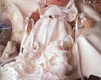 "Heirloom Dolly Crochet Pattern 10 1/2"" Tall Doll -   PDF Download"