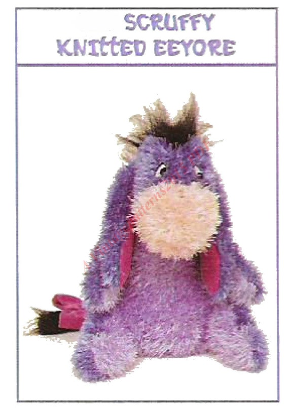 Knitted Tie Patterns : Scruffy Knitted Eeyore Toy Knitting Pattern by VintagePatterns2015