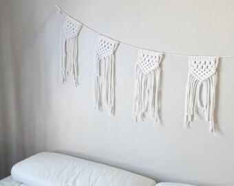 Macrame bunting garland ∣ 100% cotton rope ≫ HipsyGabyBuntingGarland