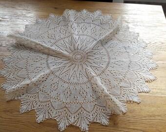Large doily handmade needle 75 cm ref 12092