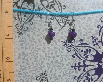 Dyed Jade Drop Earrings