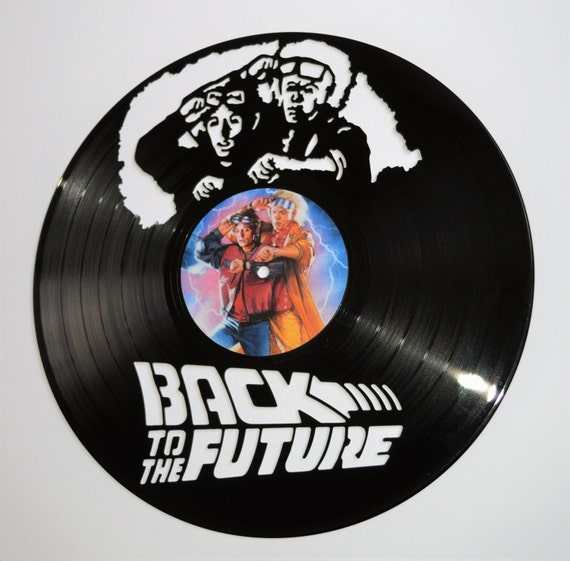 Back to the future vinyl record wall art for Vinyl record wall art