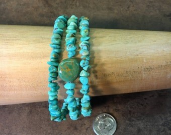 Natural Turquoise memory wire bracelets