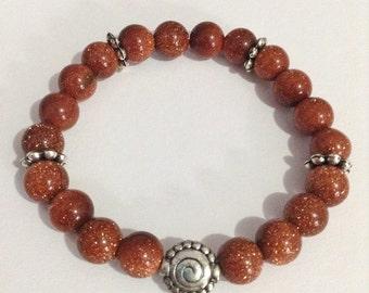 Goldstone beaded bracelet