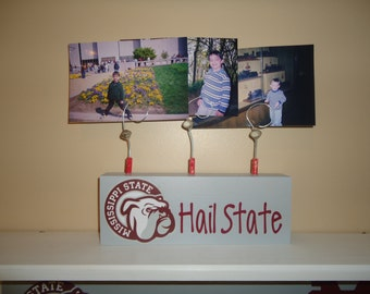 Mississippi State picture frame, Hail State picture frame, custom State picture frame, Mississippi State decor