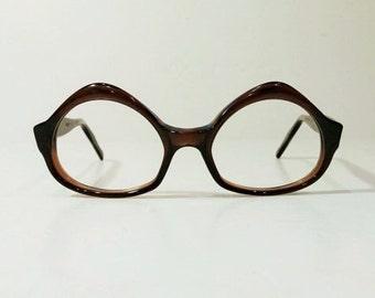 Vintage 1960's Swank Vanessa Maple Sand Tortoise Eyeglass Frames, Vintage Glasses Frames, New Old Stock