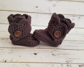 Baby Boots, Crochet Baby Boots, Baby Booties, Baby Girl Boots, Baby Shoes, Crocheted Baby Boots, Baby Girl Uggs, Wrap Boots, MADE 2 ORDER