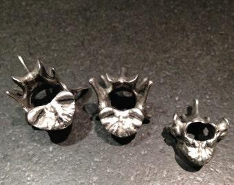 Pewter Lumbar Vertebra Necklace (lead-free pewter, skeletal, anatomy, vertebrae, jewelry, unique, handmade, fair trade, gift)