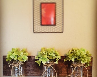 Mason Jars | Mounted | Set of 3